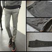 C&A.Slim Fit.Мужские брюки,штаны в клетку.