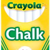 Мел Crayola для мольбертов, флипчарков белый и цветной 12шт