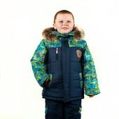 Зимний комбинезон для мальчика 92- 110 размер