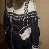 Куртка пуховик + сумка 46 48 разм., цена 900 грн.