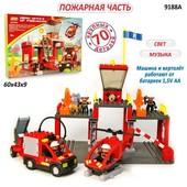 Конструктор Пожарная станция 70 деталей Jixin 9188A, 9188 a
