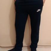 Спортивные батальные теплые ровные мужские брюки