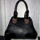Шикарная кожаная сумка Gilda Tonelli. Оригинал.