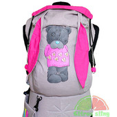 Эрго-рюкзак — Teddy Girl Family — (рисунок ручной работы) тм «Citrus Sling»