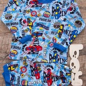 Тёплые пижамы, начёс, для мальчиков и девочек.