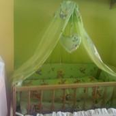 Кроватка+матрас+постельное+Бесплатная Доставка!