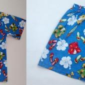 Летний комплект (рубашка+шорты) Royal Creations из 100 % хлопка на 8-10 лет, замеры в объявлении