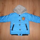 Деми куртка для мальчика от года до 2.5-трех лет (см замеры)