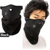 Флисовая защитная маска для лица теплая зимняя