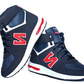 Мужские зимние синие кроссовки New Balance реплика (NB-520)