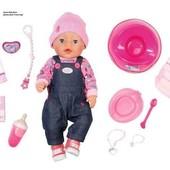 Кукла Zapf Baby Born Джинсовый Стиль 43 см с аксессуарами