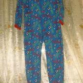 слип человечек пижама флисовая на 6-8 лет
