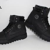 Кожаные зимние ботинки , модель ВВ ч