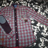 Стеганная,стильная,теплая рубашка