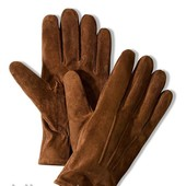 Кожаные мужские перчатки Tchibo размер 8.5 и  9.5 внутри флис