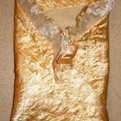 Золотой конверт - одеяло на выписку на овчине