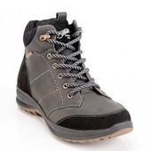 мужские кожаные ботинки зима Код:087к