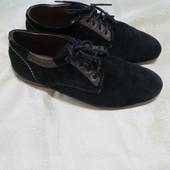 Туфли на широкую ногу замш
