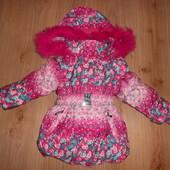 Зимняя куртка для девочки р98,104,110,116