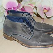 41 P.i.u.r.e. Стильные кожаные полуботинки туфли синие серые Евростиль
