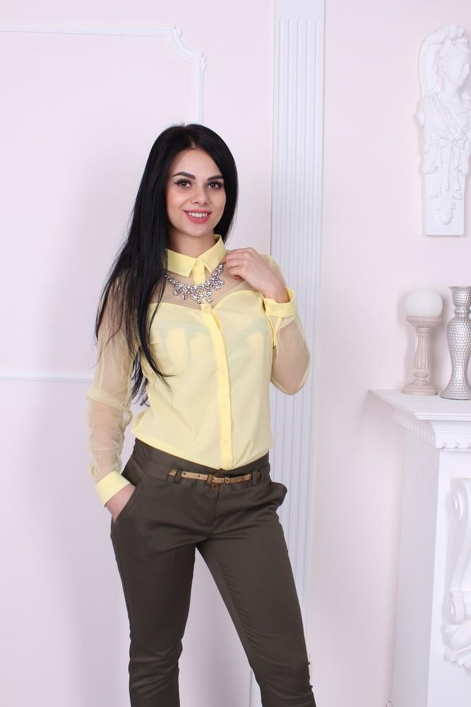 Женская шифоновая блуза фото №1