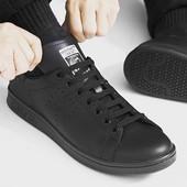 Adidas stan smith  смит черные кожaнные кроссовки  40, 41, 42, 43, 44р