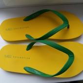 Крутые новые желтые вьетнамки от M&S,размер 44,5-46