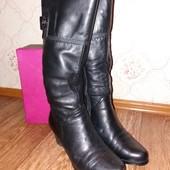 Сапоги кожаные зима 38 р-р