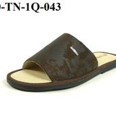 100-TN-1Q-043  Тапочки мужские домашние Inblu цвет - коричневый, размеры 40-46