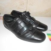 Туфли кроссовки черные натуральная кожа р.42 (28 cм)