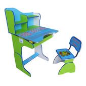 Детская парта Растишка E2071 (2071), Веселой учебы, зелено-голубая