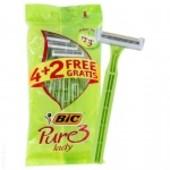 Станок для бритья BIC Pure 3 lady одноразовый 6шт
