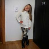 В наличии Леопардовые лосины и кофточка на меховушке для девочки