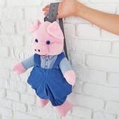 Детский рюкзак поросенок, хрюшка, свинка Оскар, 45 см