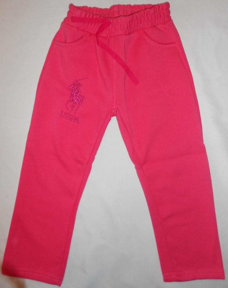 Спортивные штаны на девочек с начесом, 5 - 8 лет фото №1