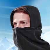 Теплая балаклава-шарф TCM Tchibo, цвет черный , флисовая