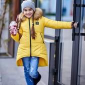Зимняя модная куртка на девочку подростка