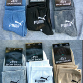 Носки мужские спорт Puma, ОПТ - 10грн