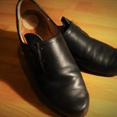 Натуральная кожа. Италия. Крутые туфли! Стелька 27 см.
