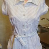 блузка белая в черные полосочки MK Размер 10 S