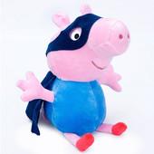 Большая мягкая игрушка свинка Пеппа  братик Джордж  Peppa Pig 30см.