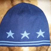 Синяя шапочка в звезды около 1-2 года