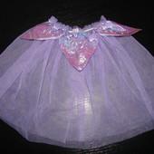 прозрачная нарядная юбка 3-6 лет на липучке как новая