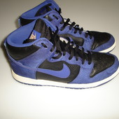 Кожаные кроссовки Nike high dunk , оригинал, р 44 (UK 11) , стелька 29,5 cм сделаны во Вьетнаме отли