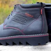 мужские кожаные ботинки зима Код: Levi W