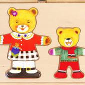 Шкаф для одежды Медведицы и Медвежонка Bino (88023)