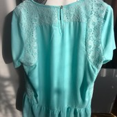 Нова бірюзова блуза Індія, якісна річ, розмір L-XL