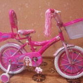 Новинка!!Детский двухколесный велосипед для девочки Beauty Barbie Барби на 16 д и на 20 д