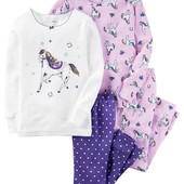 Пижама с лошадками для девочки 5Т Carter's