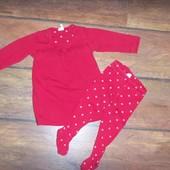 Новогодний комплект для малышки H@M на 4-6 месяцев (и дольше)